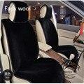 1 pc preço de fábrica pele sintética popular car styling carro almofada de lã almofada do assento de carro