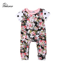 8669649235a75 2018 New Arrival Newborn Toddler Baby Girl Floral Romper Jumpsuit One Piece  Polka Romper Outfit(