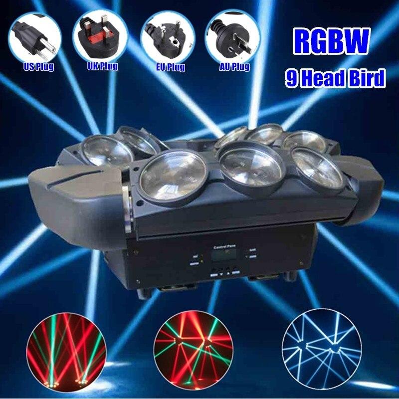 DMX512 RGB Rotating Digital Display Voice Control 9 LED Stage Light Strobe Night Lamp Club Disco Wedding Party Show 140W dmx512 digital display 24ch dmx address controller dc5v 24v each ch max 3a 8 groups rgb controller