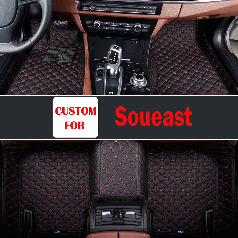 Choisissez parmi une variété de couleurs Top qualité 3d noir marron en cuir voiture tapis de sol patins pour Soueast V5 V3 Dx7 Dx3 Soveran V6