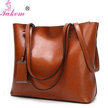 TAKEM Women Handbags Women's Leather Shoulder Bag Large Capacity Casual Tote Bags Female Messenger Bag Daily Luxury Top-Handle