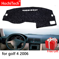 Rose Pattern Non slip Dashmat Dash Mat Dashboard Cover Pad Cover Carpet Car Sticker for Volkswagen Golf 4 2006 Car Styling