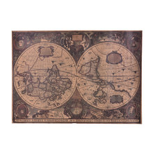 New retro World Map Nautical Ocean Sea maps vintage Kraft Paper Poster Wall Chart Sticker Antique Home decor Map World(China)