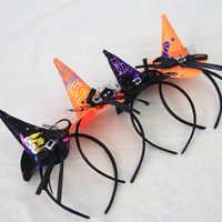 Sombrero de hechicera con forma de calabaza para Halloween gorro de bruja, disfraz de fiesta, gorra, decoración para fiesta, gorros, Cosplay para niños y adultos