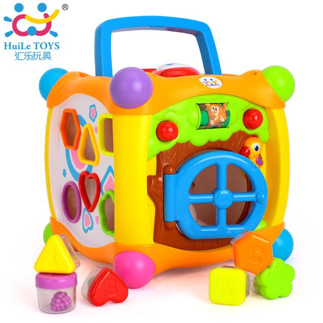 Crianças Aprendendo Brinquedos Educativos Magia Falando Caixa Cubo Atividade Centro de Jogar com Luzes, música e Muito Mais Funções Do Bebê Brinquedos 18 m +