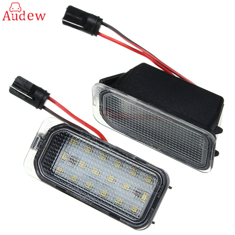 2Pcs 18 LED License Plate Light Number Plate Light Canbus Error Free For Ford/Fiesta/Focus/Mondeo 1pair license number plate light 18led lamps replace for ford mondeo focus 5d canbus d2tb