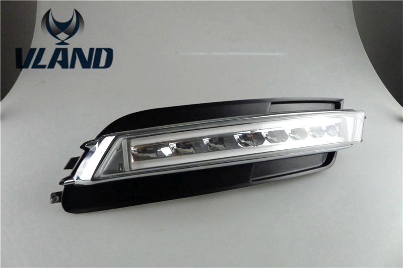 Free shipping for car fog lamp FOR Audi For A6 C7 LED DRL Daytime Running Lights 2012-2014 free shipping for car fog lamp for drl for audi for q3 car led daytime running light 2013 2014 2015 2016