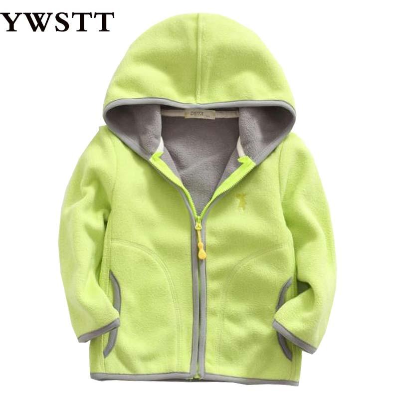Для девочек ярких цветов Polar Флисовые толстовки Куртка с воротником для мальчиков мальчики весна Повседневное спортивные пальто с капюшоно...