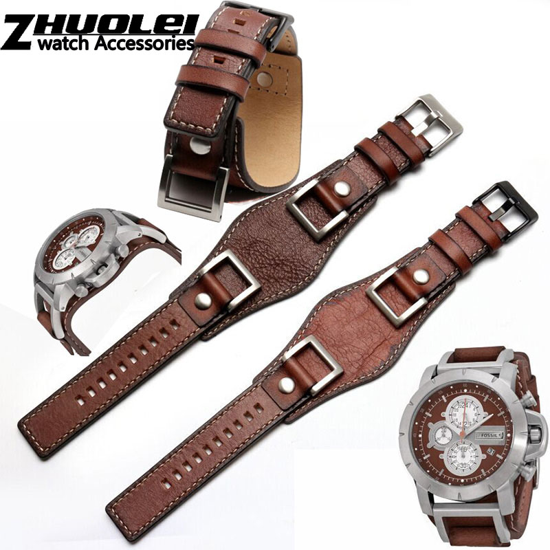 genuine leather for Fossil JR1157 watch band accessories Vintage style strap with high quantity Stainless steel joint 24mm strap
