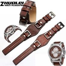 eac62930e2c9 Cuero genuino para fósil JR1157 correa de reloj Accesorios Estilo Vintage  con junta de acero inoxidable de alta cantidad 24mm