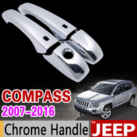 For JEEP Compass 2007 2016 Chrome Handle Cover Trim Set 2008 2009 2010 2011 2012 2013