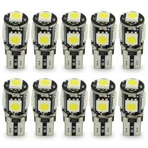 Image 1 - Safego 10 pièces de lampe de voiture Canbus 5 SMD LED 5050 194, sans erreur, T10 W5W 168, canbus OBC, LED, Source lumineuse de voiture, lumière latérale, sans erreur, LED