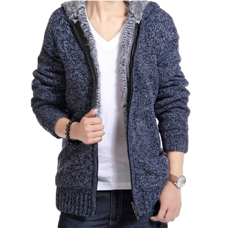 Online Shop Fashion Men Sweater Coat Add Wool Warm Winter Autumn ...