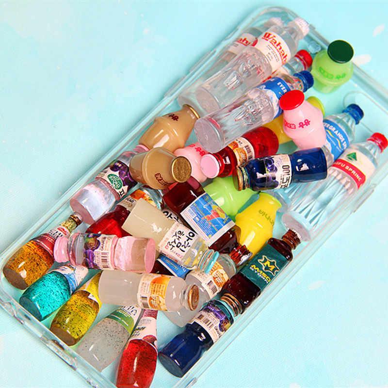 20pc Flasche Kappe Miniatur Puppenhaus Ornament Mini Spielzeug Hause Handwerk Fee Bonsai Decor Kuchen Dekoration DIY Zubehör