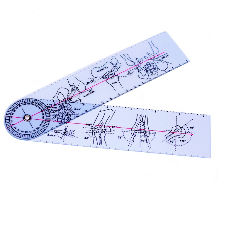 Professional Orthopedic Ruler Joint Angle Measuring Ruler Medical Ruler Medical Measuring Tool Ruler 21CM