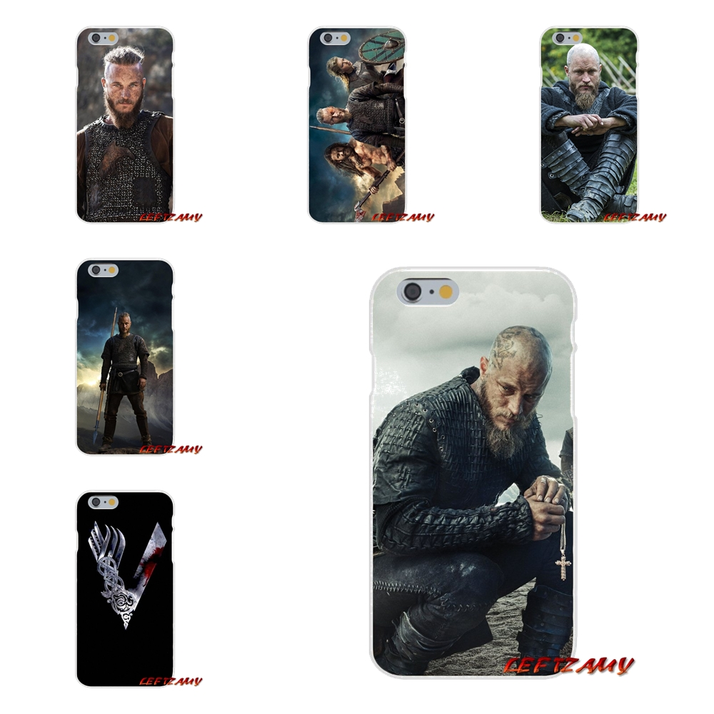 Vikings Ragnar Vikings Logo Accessories Phone Shell Covers For Samsung Galaxy S3 S4 S5 MINI S6 S7 edge S8 S9 Plus Note 2 3 4 5 8