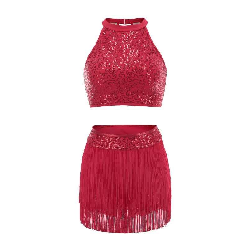 Блёстки сращивания платье на бретелях Одежда для танцев балетные костюмы гимнастика практические занятия танцами красный фиолетовый, черный 8