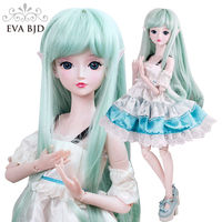 22 Green Elves Demon 1/3 BJD Doll SD Doll 56cm jointed Doll Fairy + Handmade Makeup +Full Set Wig Clothes Valentine's Gift