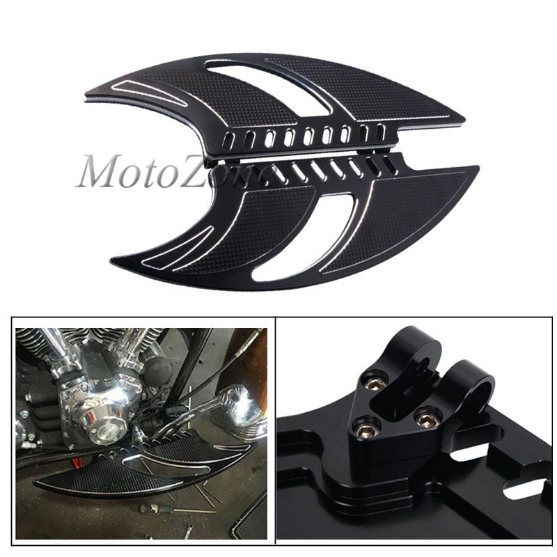 Front Driver Stretched Floor Board Pedal Floorboards Foot Pegs Footrest Compatibility For Harley Touring Softail Dyna Glide FLH