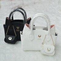 2017 Brand Design black/white sailor moon luna/artemis hand bag samantha vega handbag cat ear shoulder bag messenger bag