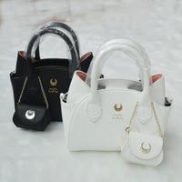 2017 Brand Design Black White Sailor Moon Luna Artemis Hand Bag Samantha Vega Handbag Cat Ear