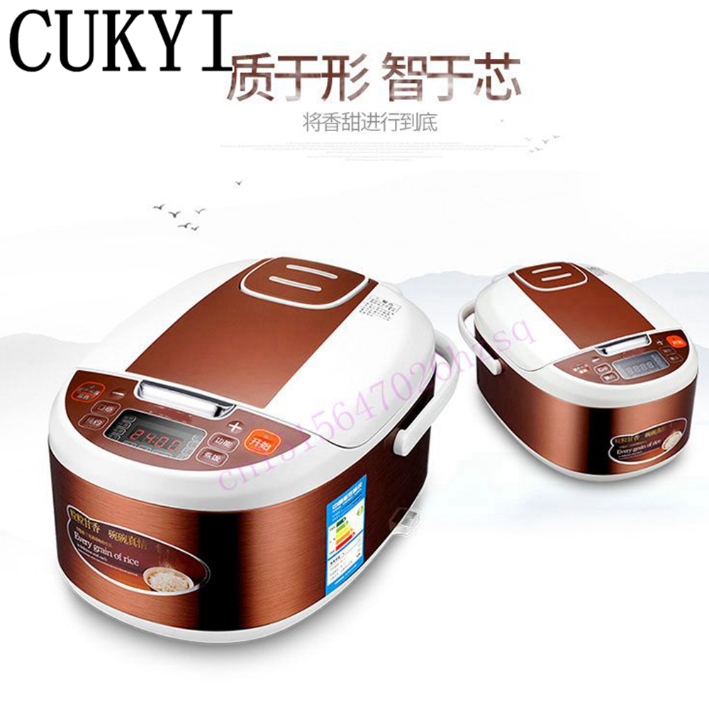 CUKYI 3L Portable electric cooker rice cooker home or car enough for 2-4 persons reservation cake 24 hours reservation timing 2l smart electric pressure cooker timing pressure cooker reservation rice cooker travel stew pot 110v 220v eu us plug