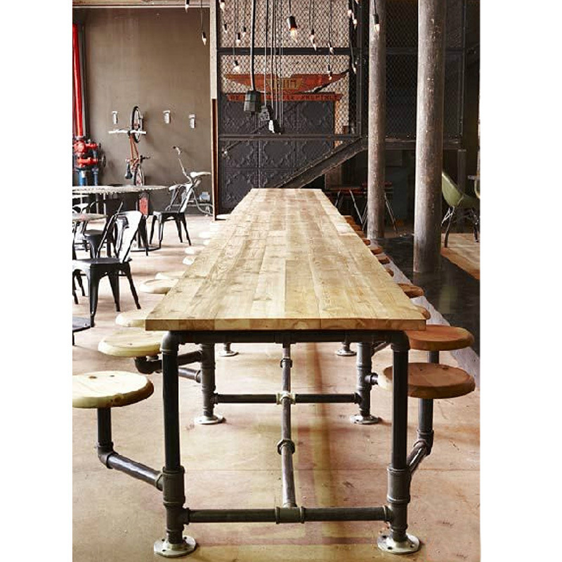 Rollins Industrial Loft Bronze Iron Coffee Table: American Village Loft Industrial Water Table To Do The Old