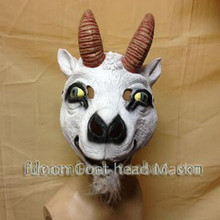 Halloween Party Cosplay Realistic Fancy dress Latex Cute Sheep Mask Popular animal goat Mask full head for Adult masquerade