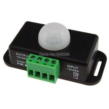 12V 24V 6A Mini PIR Sensor de movimiento Interruptor del detector interruptor de inducción del cuerpo humano detección infrarroja para cinta de LED de único color