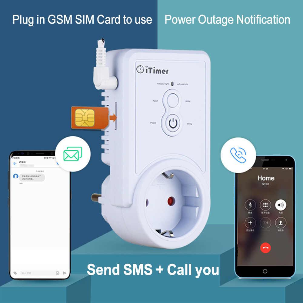 Angielski rosyjski sterowanie SMS inteligentne gniazdo zasilania GSM przełącznik gniazda z regulacją czasu czujnika temperatury
