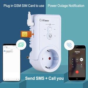 Английский Русский SMS контроль Smart GSM розетка переключатель с температурным датчиком контроль времени