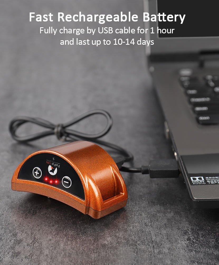 Paipaitek Upgraded Dog Bark Collar 45 Days Ultra Long Working Time Safe Effective Bark Stop Collar for Dog w/ Sound / Shock Mode 2