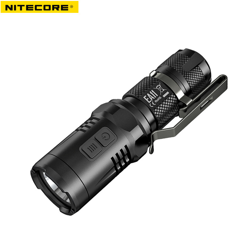 AA battery flashlight NITECORE EA11 CREE XM-L2 (U2) LED max. 900 lumens 190 meters beam distance waterproof small size torch nitecore mh20 with 3200mah battery 1000 lumens cree xm l2 u2 led rechargeable mini flashlight waterproof led torch free shipping