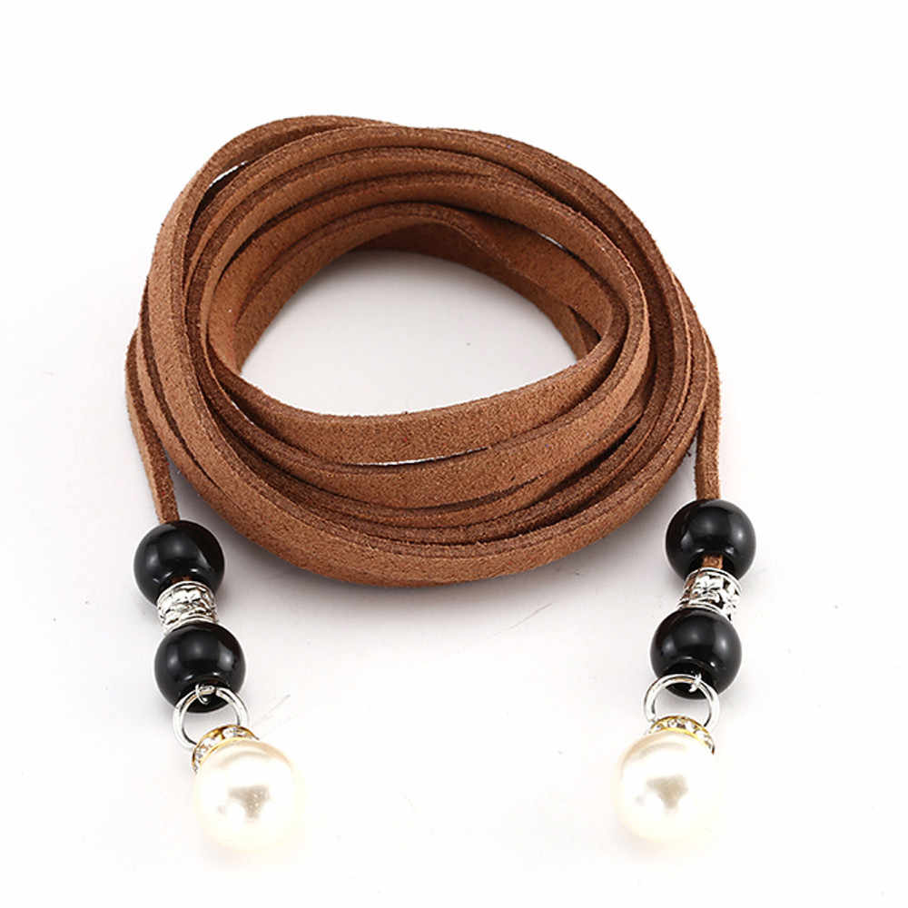 Pas dla kobiet dziewczynki moda długa, cienka pas perła talia łańcuszek do spodni cukierki jednolite kolory liny konopne pleciony pasek akcesoria do sukni