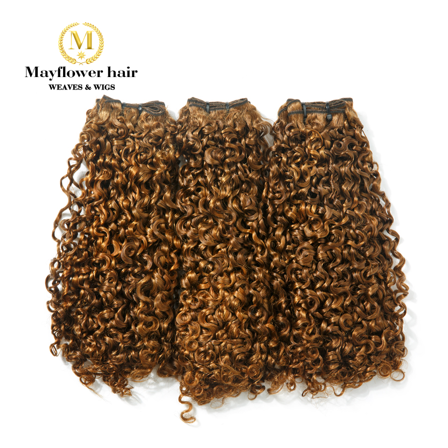 Mayflower Funmi Hair Tiny Curl 1/2/3 Bundles Mixed Length 10-18