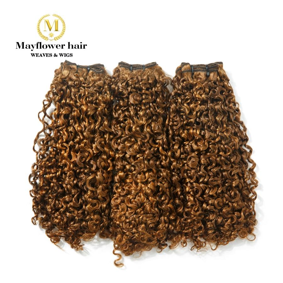 Mayflower Funmi Hair Tiny Curl 1/2/3 Bundles Mixed Length 10-18
