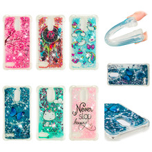 LUCKBUY For LG stylus 3 LS777 Silicone Case Dynamic Glitter Liquid Quicksand Anti Knock Soft TPU Cover Stylo stylo3