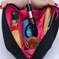 Women Solid Multifunction Travel Cosmetic Makeup Toiletry Cosmetic Bag Pouch Organizer