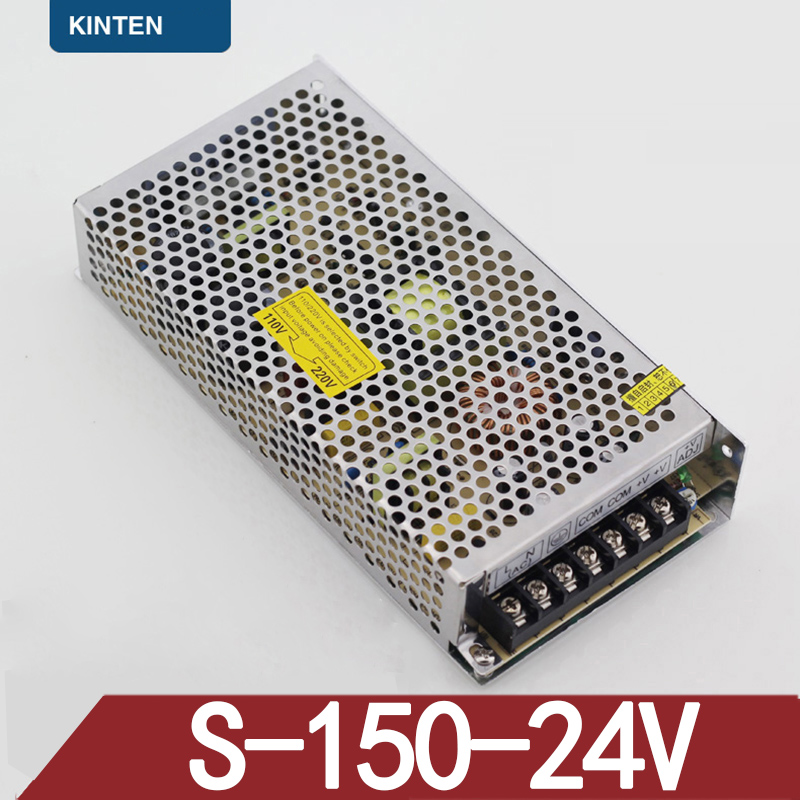 S-150-24LED Power Supply DC Switching Power Supply Monitoring Anti-theft System Power Supply 24V 6A 145W 4pcs 12v 1a cctv system power dc switch power supply adapter for cctv system