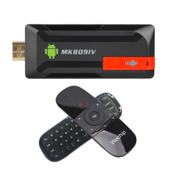 MK80IV TV stick RK3229 MK809 IV dongle 32bit Android 5.1 TF tarjeta Wifi miracast 4 K BT4.0 MK809 4 K airPlay Android + W1 Air Mouse