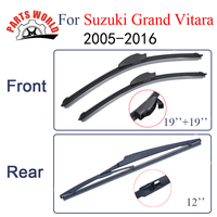 KIT Silicone Rubber Windscreen Front And Rear Wiper Blades For Suzuki Grand Vitara 2005 Onwards Windshield
