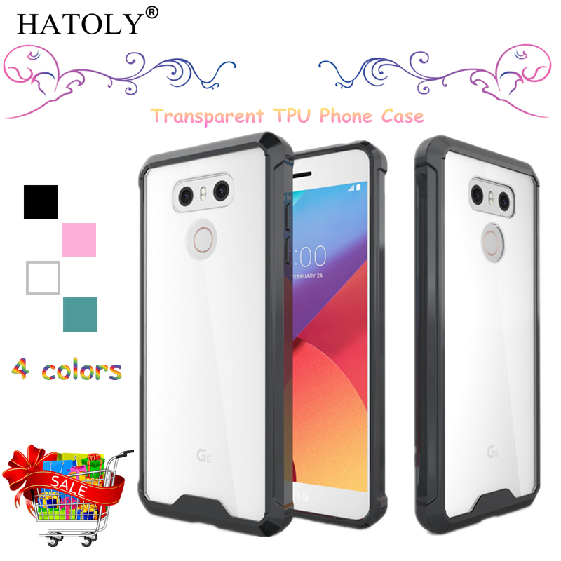 HATOLY sFor Cover LG G6 Case H870 H873 Silicone Transparent Shockproof Soft Rubber Phone Case for LG G6 Cover for LG G6 H870DS &