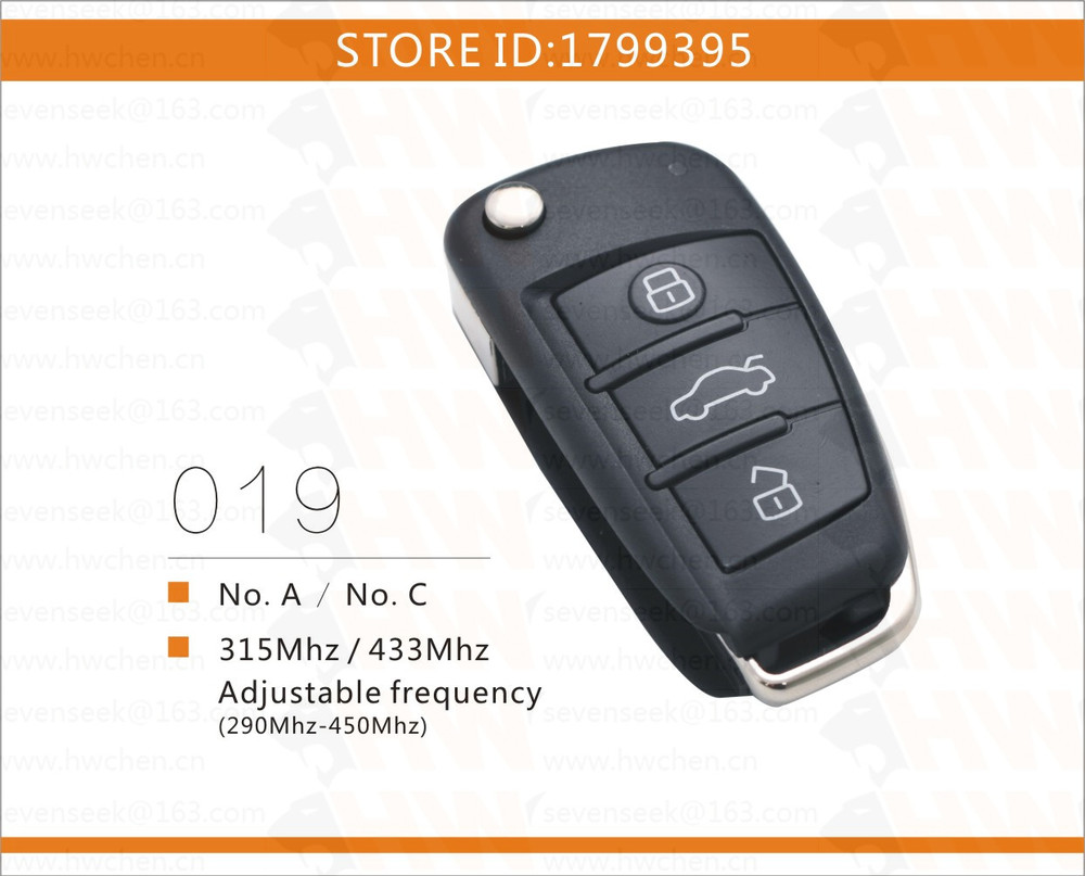Free shipping no c audi style rolling code universal gate garage door remote control for chip - Rolling code garage door remote ...
