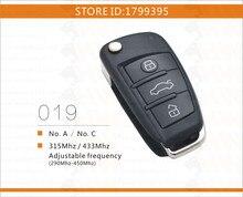 Envío gratis NO. C audi style rolling code control remoto Universal de Puerta De Garaje Puerta de chips HCS300 HCS301 HCS200 HCS201