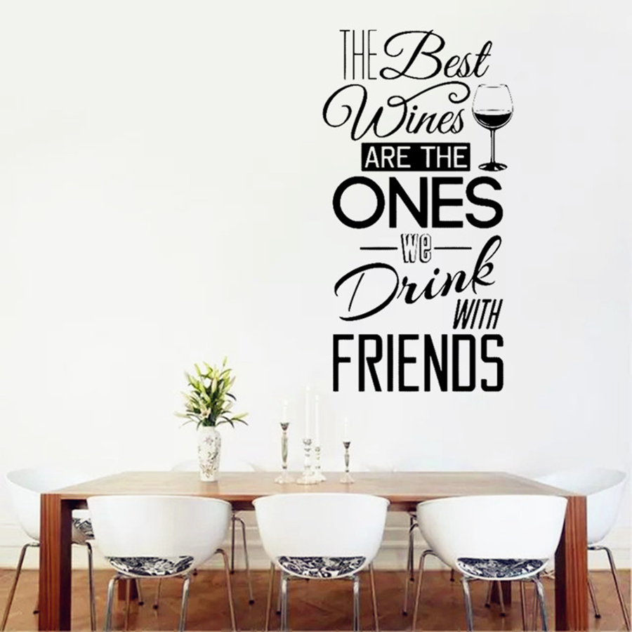 the best wines wall sticker