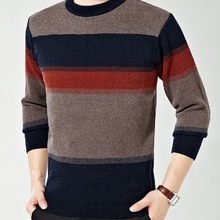 New Arrival Fashion Winter warm Thick font b Sweater b font Long Sleeve O Neck Striped