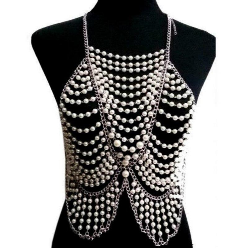Mode Hyperbole multicouche corps chaînes Choker géométrique perle perles Long collier femmes bohème ethnique colliers bijoux