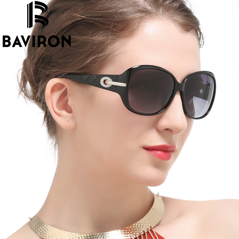 BAVIRON Butterfly Classic Fashion Big Frame Women Sunglasses Inlaid Diamonds On Legs Sun Glasses Woman Polarized