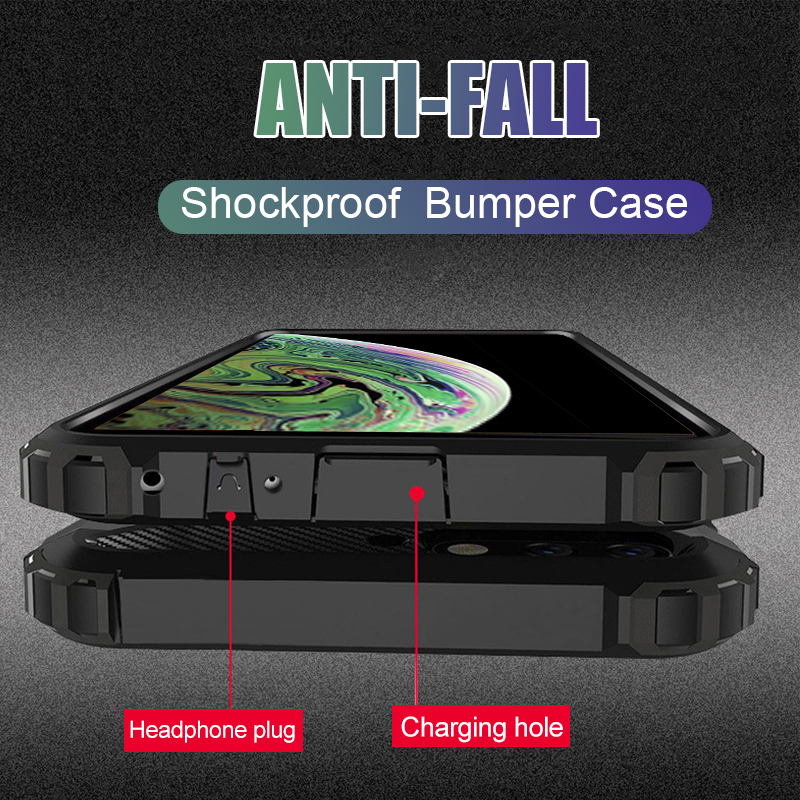 Luxury Shockproof Armor Case Cover On The For IPhone 8 7 6 6s Plus XR XS Max X Bumper Case For IPhone 8 7 6 6s Soft Back Case