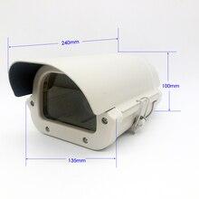 6 дюймов CCTV камера коробка прозрачное стекло без объектива вырез kamera корпус Открытый Чехол водонепроницаемый корпус крышка из алюминиевого сплава